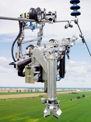 Solar Powered Robot Crawls On Aging Power Lines To Inspect